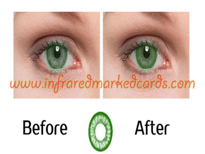 Infrared Contact Lenses for Green Eyes